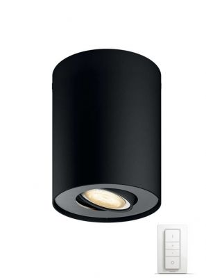 Philips Hue Pillar Spot - Sort med Dimmer Switch