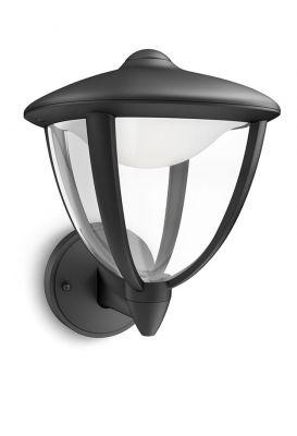 Philips myGarden Robin Væglampe LED op Sort