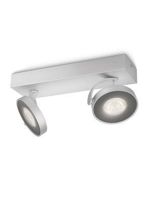 Philips myLiving Clockwork Spot LED 2 stk Aluminium