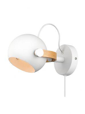 Halo Design - DC Væglampe - Hvid/Eg - Ø12cm
