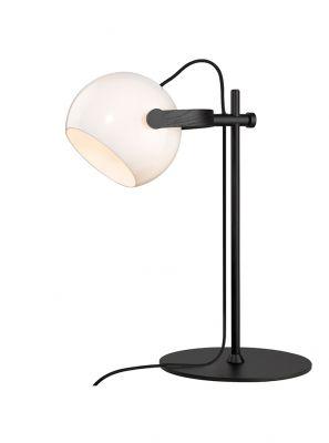 Halo Design - DC Bordlampe - Hvid/Sort-eg Ø18cm