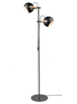 Halo Design - DC Dobbelt Gulvlampe - Sort/Eg - Ø18cm