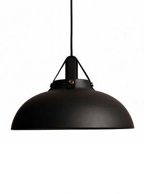 Halo Design - Stavanger Pendel - Sort/Sort læder Ø38cm