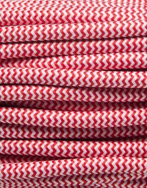 Rød zig-zag stofledning