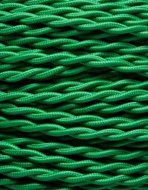 Grøn snoet stofledning