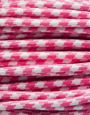 Pink tofarvet stofledning