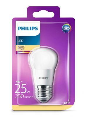 E27 - Philips LED Pære 4W - 250lm (Lyskilder)
