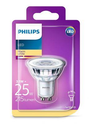 GU10 - Philips LED Spot 3.1W - 215lm (Lyskilder)