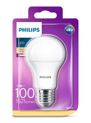 E27 - Philips LED Pære 13W - 1521lm (Lyskilder)