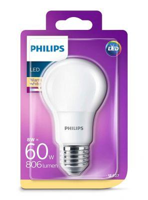 E27 - Philips LED Pære 8W - 806lm (Lyskilder)