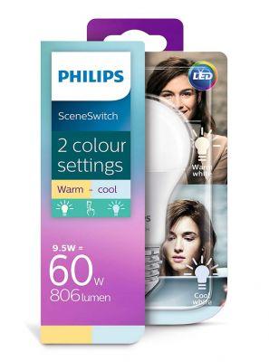 E27 - Philips SceneSwitch LED Pære - 806lm - 2700/4000K