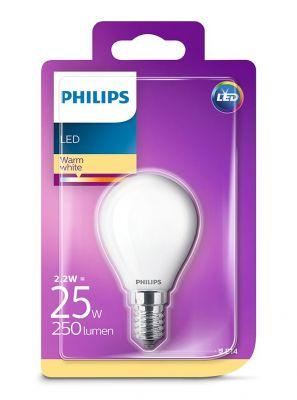 E14 - Philips LED Pære 2.2W - 250lm (Lyskilder)