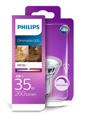 GU10 - Philips Warm Glow LED Spot 3W - 230lm - 3000K - CRI:90+
