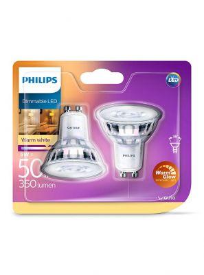 GU10 - Philips Warm Glow LED Spot 3.8W - 345lm - CRI:90+ 2-pak