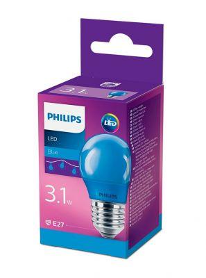 E27 - Philips LED Pære 3.1W - Blå (Lyskilder)