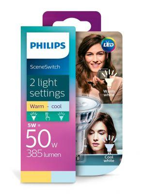 GU10 - Philips LED Spot 5W - 450lm (Lyskilder)