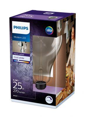 E27 - Philips Giant Smoky Dråbe LED Pære 6.5W - 270lm