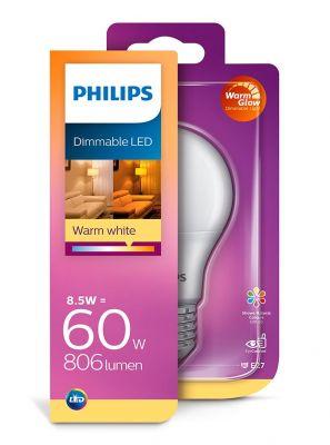 E27 - Philips LED Pære 8.5W - 806lm (Lyskilder)