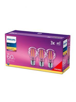 E27 - Philips LED Pære 7W - 806lm 3-pak (Lyskilder)