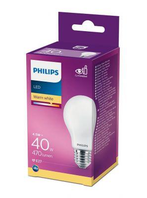 E27 - Philips LED Pære 4.5W - 470lm (Lyskilder)