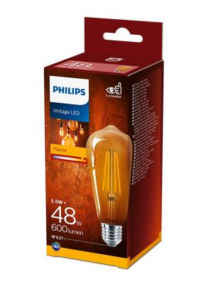 E27 - Philips LED Pære 5.5W - 600lm (Lyskilder)