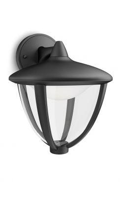 Philips myGarden Robin Væglampe LED ned Sort