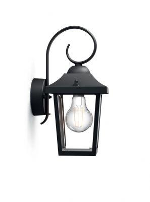 Philips myGarden Buzzard Væglampe Sort