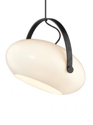 Halo Design - DC Pendel - Opalic - Hvid/Sort-eg Ø40cm