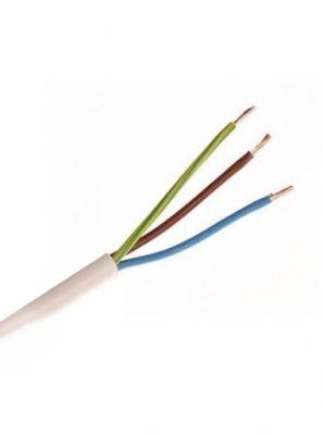 Downlight Kabel - Hvid - 230V - 3x1,5mm2 - 90gr - Blød