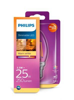 E14 - PHILIPS Kerte LED - 3.5W - Dæmpbar