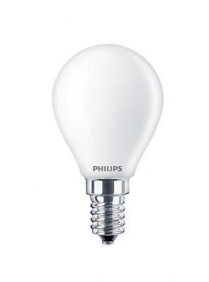 E14 - Philips Warm Glow LED Krone Pære - Mat - 4.5W - 470lm - CRI:90+