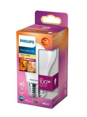 E27 - Philips Warm Glow LED Pære - Mat - Perfekt til PH5 lampen