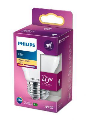 E27 - Philips LED Krone Pære - Mat - 4.3W - 470lm