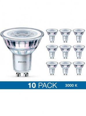 GU10 - Philips LED Spot - 4.6W - 10-pack - 3000K