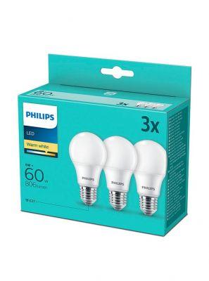 E27 - Philips LED Pære 8W - 806lm  3-pak