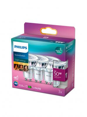 GU10 - Philips SceneSwitch LED Spot - 3 pak