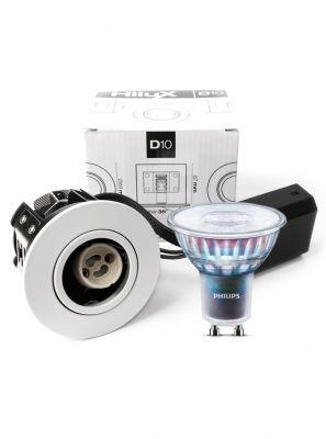 HiluX D10 hvid - inkl. 5.5W Philips Expert Color LED pære Cri:97