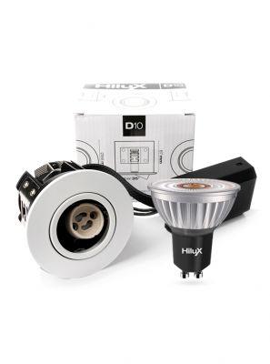 HiluX D10 Hvid Indbygningsspot - inkl. HiluX R8 LED spot