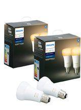 Philips Hue White Ambiance LED pære - E27 - 4-pak