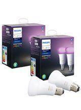 Philips Hue Color LED pære - E27 - 4-pak