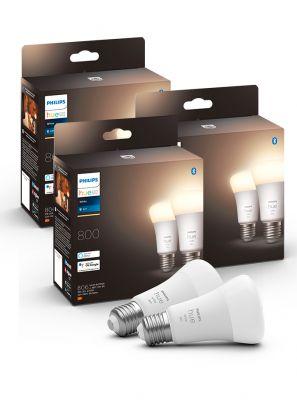 Philips Hue White LED pære - E27 - 6-pak