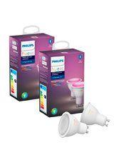 Philips Hue Color LED spot - GU10 - 4-pak
