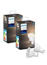 Philips Hue White LED spot - GU10 - 4-pak
