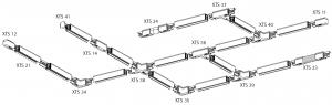 GLOBAL 3-Faset XTS21-2 - Samlestykke (Forlængerled) - Sort