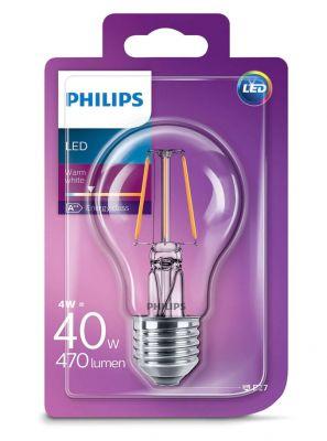 E27 - PHILIPS - 4W - klart glas