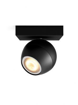 Philips Hue Buckram 1 spot - Sort - inkl. Dimmer Switch