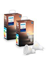 Philips Hue White Ambiance LED spot - GU10 - 4-pak