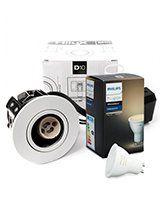 Philips Hue White Ambiance GU10 + HiluX D10 indbyg.