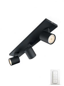 Philips Hue Runner 3-Spot - Sort med Dimmer Switch
