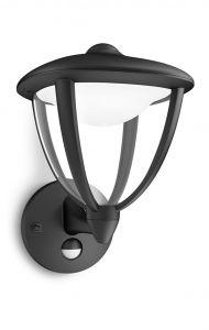 Philips myGarden Robin Væglampe LED Sort m. sensor